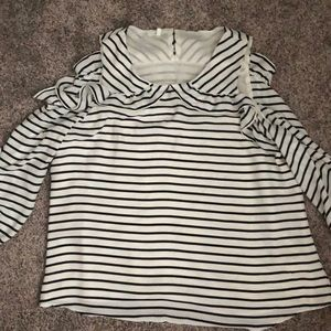 Maurices cold shoulder top w ruffle detail